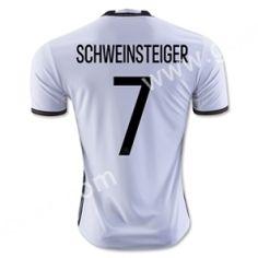 2016 European Cup Germany SCHWEINSTEIGER Home White Thailand Soccer Jersey