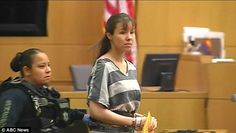 Jodi Arias sports prison stripes in court appearance as she is behind bars as convicted murderer of Travis Alexander Travis Alexander, Prison Jumpsuit, Jodi Arias, True Crime Books, Behind Bars, County Jail, Women's Wrestling, White Girls, Sentences