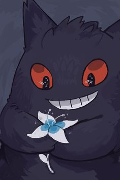"rinnai-rai: "" Made a gengar phone background for anyone who wants to use it c: "" for some reason this is my most popular post? is it because of the flower? Gengar Pokemon, Pokemon Fan, Cute Pokemon, Pikachu, Pokemon Original, Ghost Type Pokemon, Arte Horror, Fan Art, Pokemon Pictures"