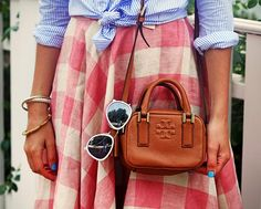 Blouse + Gingham Skirt | Classy Girls Wear Pearls: Edgartown, Martha's Vineyard