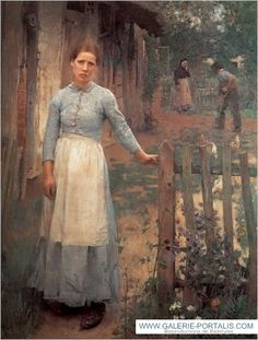 'The Girl at the Gate' by Sir George Clausen