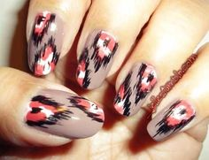 DIY Nail Art Alert: Try Ikat Print!: Girls in the Beauty Department: Beauty: glamour.com