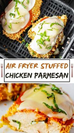 Ready to serve in half-hour, this stuffed chicken parmesan is cooked within the air fryer for one delicious bite. Perfectly crispy and straightforward to form. 📌📌 Chicken Parmesan Recipes, Weeknight Meals, Easy Meals, Easy Recipe To Make At Home, Stuffed Chicken, Chicken Stuffing, Baked Chicken, Southern Recipes