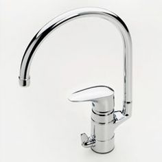 Oras Vega, kitchen faucet with dishwasher valve and water saving eco-button for limiting  flow-rate. (1839F)
