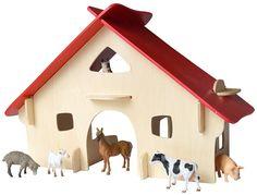 Beluga Spielwaren 10003/FSC - Wooden World Bauset Bauernhof: Amazon.de: Spielzeug