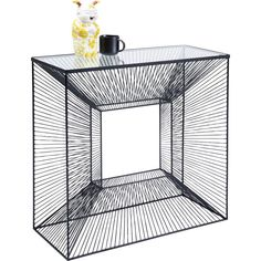 Konzola DIMENSION Kare Design, Art Object, Cubes, Console Table, Staging, Dining Area, Decorative Bowls, Steel, Glass