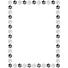 Black and white paw print border clip art page border and vector liked on polyvore - Paw print wall border ...