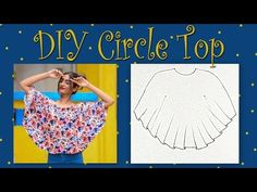 Circle Top Cutting & Stitching | Circle Top with Cut Out Sleeve | # DIYDesignerTop - YouTube