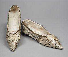 Regency Spangled Silk Shoes, circa 1793-98