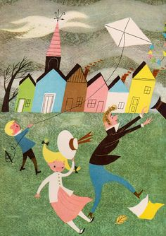 A Child's Garden of Verses    by Robert Louis Stevenson, illustrated by Alice & Martin Provensen (1951).