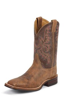 Justin Boots Men's Old Map Square Toe Cowboy Boots