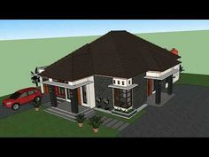 My Home Design, Home Design Plans, Shed Plans, House Plans, Bungalow House Design, House Elevation, Gazebo, Outdoor Structures, Wall Decor
