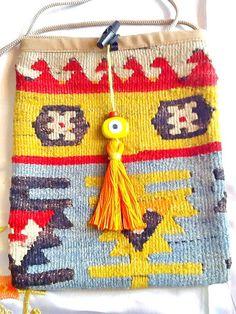 SALEGYPSY BAG bohemian bag-vintage Kilim bag Turkish by Nezihe1