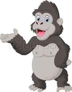 Angry gorilla cartoon | Vector | Colourbox
