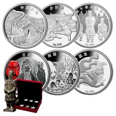 China Coin - Discover China - 1/2 oz. Fine Silver 6-Piece Medallion Set (2015) - Mintage: 5,000