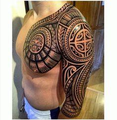 Very Detailed Polynesian Tattoo