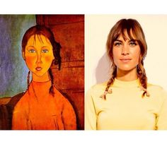 Led by Spanish sisters Beatriz and María Valdovín, @ArtlexaChung features photos of Chung side-by-side with masterpieces of fine art. The juxtaposition highlights the striking similarities between the famous It Girl and these famous paintings by artists like Modigliani and Matisse.