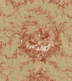 Home Decor Print Fabric-Waverly La Petite Ferme Ruby