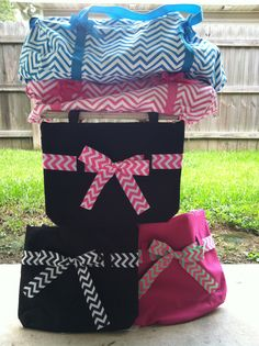Chevton Duffel Bags and Tote Bags.  www.facebook.com/pages/Sassy-Decor-and-More-LLC/365352106761