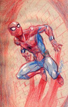 dibujos de spiderman a color para niños