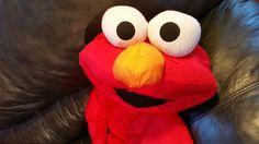 Large  Elmo Puffalump 1995 and 3 Books Sesame Street ABC Elmo Grover Preschool   #Hasbro