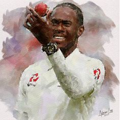 Jofra Archer - Ashes 2019 by realdealluk on DeviantArt Cricket Sport, Live Cricket, Ashes Cricket, England Cricket Team, Cricket Wallpapers, Arsenal Fc, Sports Art, Photo Canvas, Archer