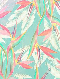 My Summer Color Palette :: Vintage Tropical Motif Tropical, Tropical Colors, Tropical Pattern, Summer Colors, Tropical Prints, Tropical Design, Tropical Birds, Pattern Vegetal, Pattern Texture