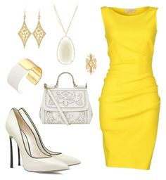 """gold"" by elvira-8390 ❤ liked on Polyvore featuring Emilio Pucci, Casadei, Dolce&Gabbana, Kate Spade, Fernando Jorge, Annie Fensterstock and Suzanne Kalan"