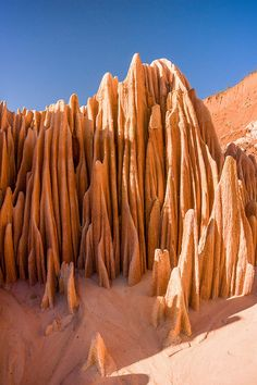 Red Tsingy of Antsiranana, Madagascar    Go climb that