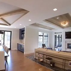 "Such unique ceiling designs in every ""room"" Click the image to try our free home design app. Keywords: ceiling design, ceiling remodels, beautiful homes, living room design… Ceiling Design Living Room, Home Room Design, Interior Design Living Room, Living Room Designs, House Ceiling Design, Dream House Interior, Country Home Design, Modern Ceiling Design, Kitchen Ceiling Design"