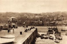 The Pier  OLD PHOTOS OF ST IVES CORNWALL
