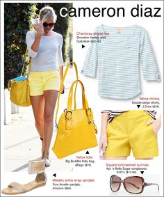 Stripes and canary for less.