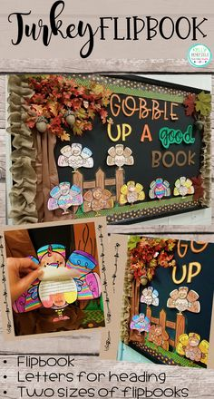 Your students will love creating these fun turkey flipbooks to respond to their reading. Then use to create a colorful and fun bulletin board.