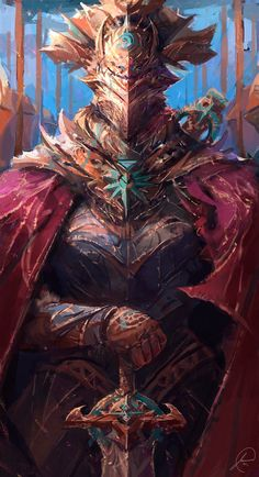 Hey guy's! Here's a painting of a fancy looking knight I had a lot of fun working on this piece, it was tough trying to detail this piece but I think it turned out pretty okay. I hope y...