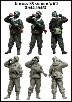 GERMAN SS SOLDIER WW2 (1944 1945) 1/35 Resin Model Kit Free Shipping-in Model Building Kits from Toys & Hobbies on Aliexpress.com | Alibaba Group