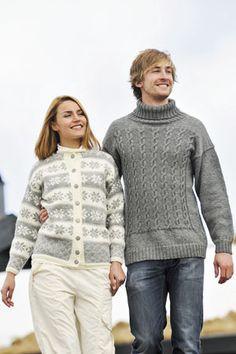1011: Modell 22 Herregenser #strikk #knit #fjells Sweater Cardigan, Men Sweater, Knits, Turtle Neck, France, Inspired, Knitting, Sweaters, How To Make