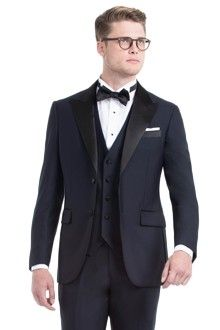 Premium Midnight Blue Three-Piece Tuxedo $749