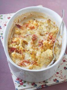 Chou-fleur gratiné au jambon
