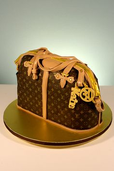 Louis Vuitton Purse cake by marksl110, via Flickr