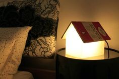 Nighttime Reading Cute House Book Rest Lamp // 10 BOOK Furniture Design Pieces That Will Inspire You