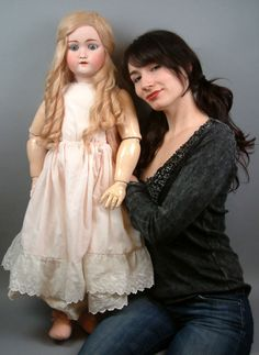 "HUGE+GORGEOUS 38"" 101 ""MY SWEETHEART"" SUPER RARE Antique German DOLL-WHEW!!"