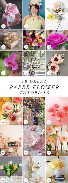 18 MORE best paper flower tutorials