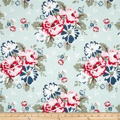 Designed by Carina Gardner for Riley Blake, this cotton print is perfect for quilting, apparel and home decor accents. Colors include pink, raspberry, navy, sage, chocolate, mint, and white.