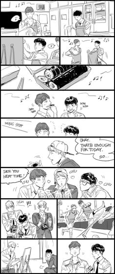 Exo Anime, Funny Comics, South Korea, Random Stuff, Fan Art, Japan, Kpop, Cartoon, Boys