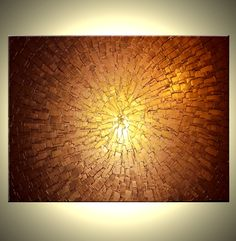 Great for an office. Original Large Textured Painting Contemporary Gold by Laffertyart. , via Etsy.