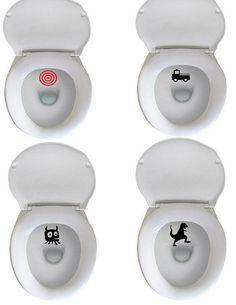 Potty Training - Target Aim Decals - Fun Potty Training at LAST - set of 3 on Etsy, $2.00 #PottyTraining101