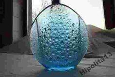 J.S. Drost turkusowy wazon z serii Asteroid