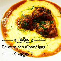 """315 Me gusta, 11 comentarios - Esteban Cocinero (@estebancocinero) en Instagram: """"El día está ideal para este plato que es muy fácil!  Polenta con albondigas  Para las albóndigas…"""""""