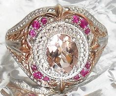 Look what I found on @eBay! http://r.ebay.com/9ZV81k 2.00ctw Pink Morganite Pink Sapphire Ring size 8