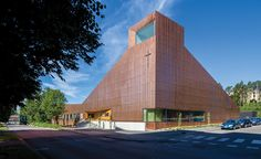 A striking copper-clad assembly combines the sacred and the secular for a diverse community in Finland.